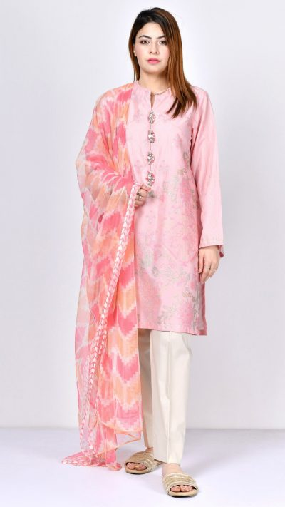 Limelight F1829 Light Pink Embroidered Lawn Shirt & Dupatta Summer 2019