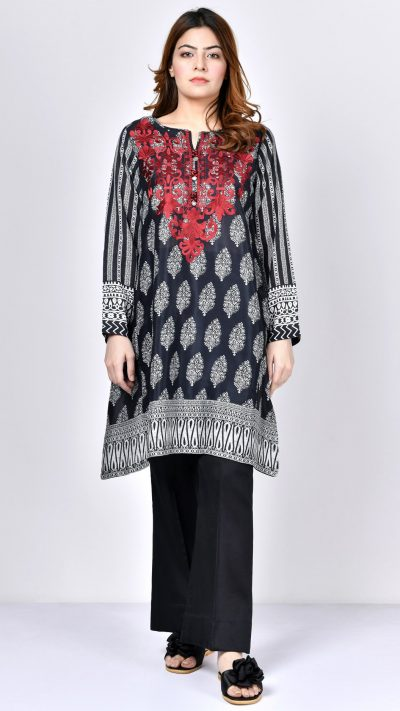 Limelight P1332 Black Embroidered Thai Silk Shirt Summer 2019