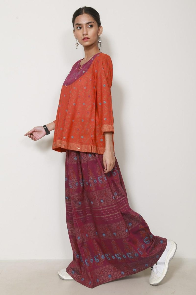 Generation B19743T Basant Skirt Co-ords Orange Lawn Suit Summer 2019