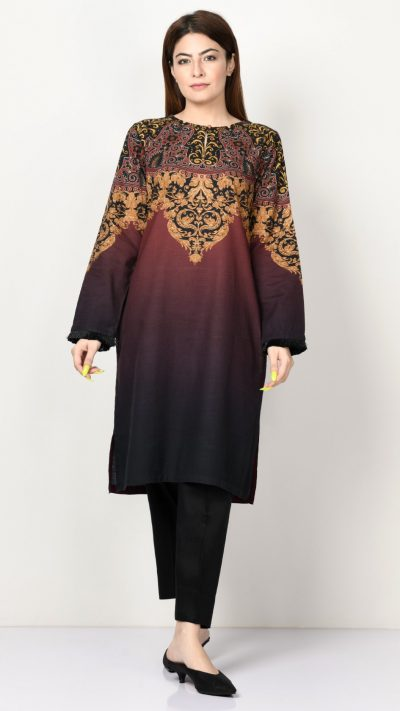 Limelight P3181 Black Printed Khaddar Shirt AW19