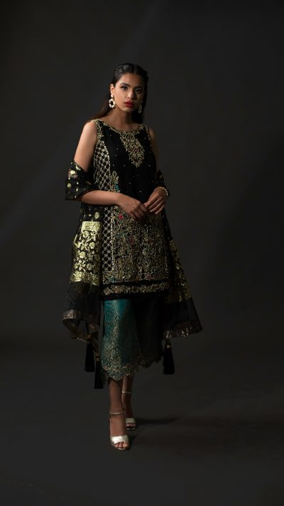 Timeless Black Nousha Occasion Wear 2019 by Zonia Anwaar