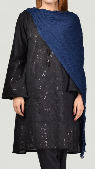 Limelight DP004 Blue Crushed Chiffon Dupatta
