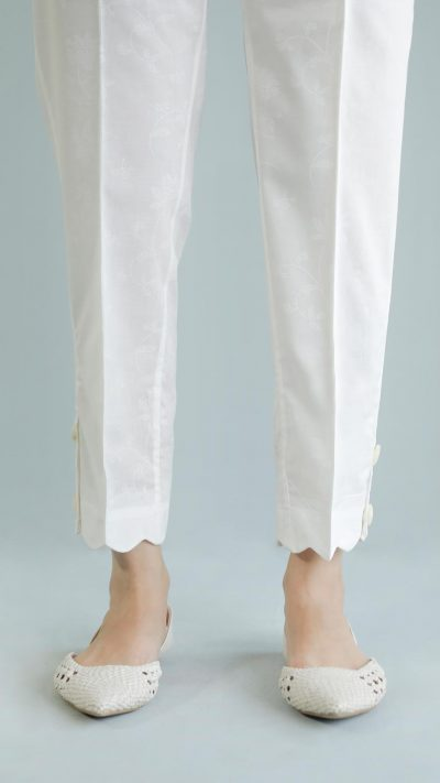 Ethnics Casual Trousers O.White WBC101245 SS20 - chambeili.com