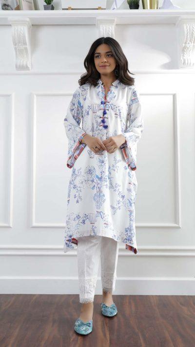 Ethnics Casual Shirt White WTC101065 SS20 - chambeili.com