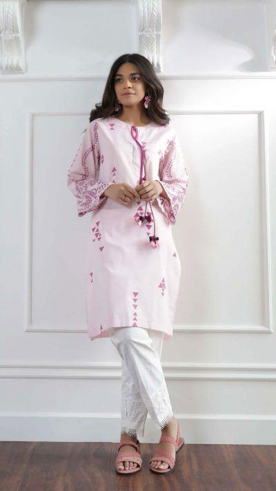 Ethnics Casual Shirt Pink WTC101121 SS20 - chambeili.com
