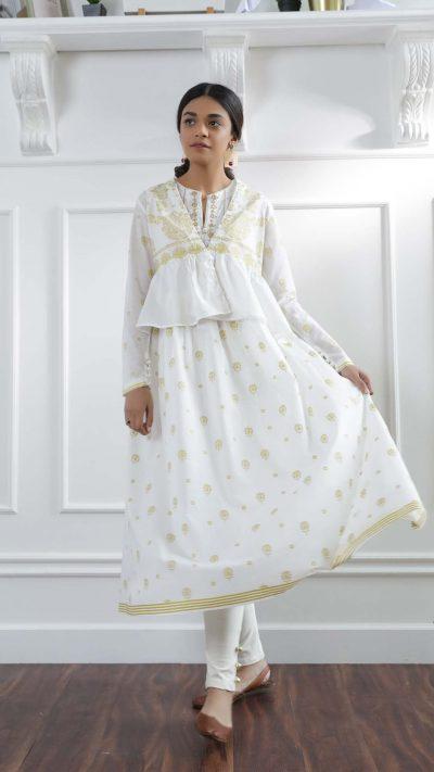Ethnics Casual Shirt O.White WTC101179 SS20 - chambeili.com