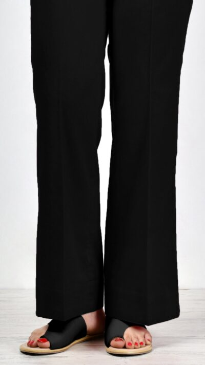 Limelight P2441 Black Cambric Bootcut Trousers - chambeili.com