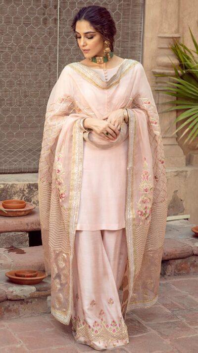 Gulfam Pink Ibteda-e-Ishq by Faiza Saqlain chambeili.com