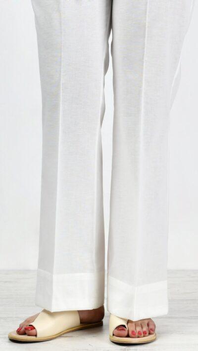 Limelight P2441 White Cambric Bootcut Trousers - chambeili.com